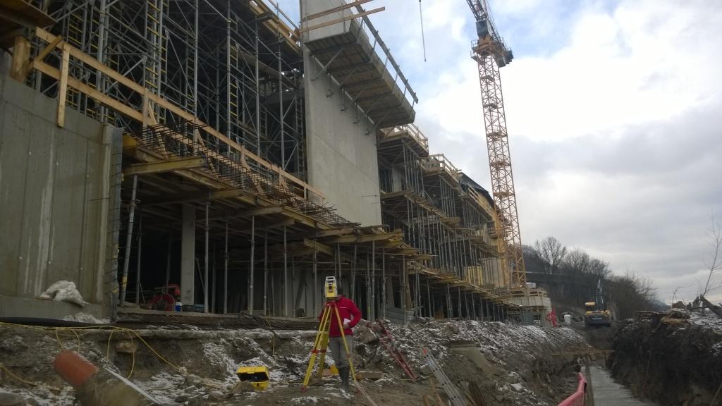 Bauvermessung BV Neues Ufer Nord, Hallein, 2015