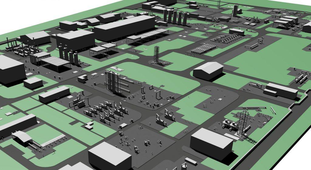3D Modell erstellt aus Daten der Drohnenbefliegung, 2020